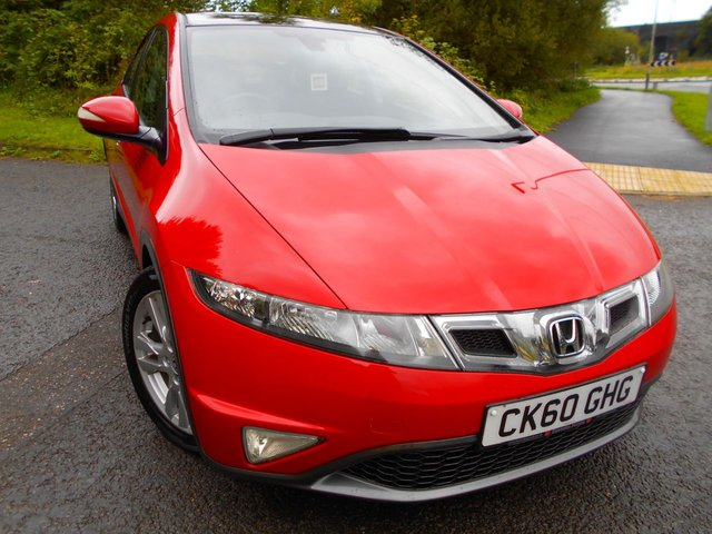 2010 60 HONDA CIVIC 1.8 I-VTEC ES 5d 138 BHP ** ES  EDITION, TWIN GLASS ROOF, CRUISE CONTROL, 6 SPEED, ALLOYS , YES ONLY 84K, STUNNING VEHICLE THROUGHOUT , BARGAIN ONLY £3995 !!!!  **