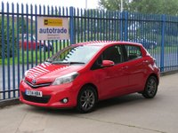 USED 2014 14 TOYOTA YARIS 1.3 VVT-I ICON PLUS 5d 99 BHP Ideal 1st Car,low miles,service history