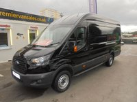 USED 2018 18 FORD TRANSIT 2.0 350 L4 H3 LONG WHEEL BASE HIGH ROOF JUMBO 130 BHP EURO 6  ONLY 32,000 MILES, METALLIC BLACK, STILL UNDER MAIN DEALER WARRANTY TILL 24 / 07 / 2021  £££ FINANCE AVAILABLE £££ 2018 FORD TRANSIT JUMBO EURO 6 ONLY 32,000 MILES
