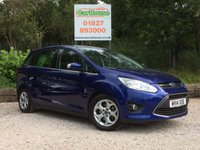 USED 2014 14 FORD GRAND C-MAX 1.0 ZETEC 5dr E/boost £30 Tax, Bluetooth, Isofix