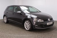 USED 2015 65 VOLKSWAGEN GOLF 1.6 GT TDI BLUEMOTION TECHNOLOGY DSG 5DR AUTO SAT NAV 1 OWNER 109 BHP FULL VW SERVICE HISTORY + £20 12 MONTHS ROAD TAX + SATELLITE NAVIGATION + PARKING SENSOR + BLUETOOTH + CRUISE CONTROL + AIR CONDITIONING + MULTI FUNCTION WHEEL + DAB RADIO + PRIVACY GLASS + ELECTRIC WINDOWS + ELECTRIC MIRRORS + 17 INCH ALLOY WHEELS