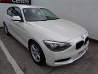 USED 2014 14 BMW 1 SERIES 2.0 116D SE 3 door  114 BHP white £182 A MONTH  FULL MAIN DEALER SERVICE HISTORY £30 ROAD TAX ALLOY WHEELS 2 KEYS SOUGHT AFTER COLOUR MOT JULY 20