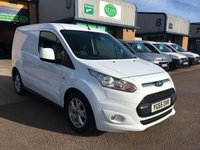 USED 2015 65 FORD TRANSIT CONNECT 1.6 200 LIMITED L1 1d 114 BHP A/C, ALLOYS, BLUETOOTH, E/W, 6 MONTHS WARRANTY & FINANCE ARRANGED. 6 months Premium Autoguard warranty on every van, 3 service's - 2 Main Agent Services - a Full Service carried out on 23.09.2019 @ 86.964 Miles, 3 seats, A/C, Bluetooth, rear parking sensors, cruise control, alloys, heated seat, heated front windscreen, 1 owner, Electric Windows, Power Steering, DAB Radio, Remote Central Locking, full bulk head & finance arranged on site