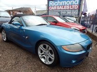 "USED 2004 54 BMW Z4 2.2 Z4 SE ROADSTER 2d 168 BHP BEIGE LEATHER INTERIOR, 18"" ALLOY WHEELS, FULL SERVICE HISTORY"