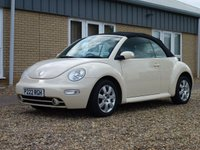 USED 2004 VOLKSWAGEN BEETLE 2.0 CABRIOLET 8V TIPTRONIC 2d AUTO 114 BHP www.suffolkcarcentre.co.uk - Located at Reydon