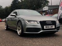 USED 2011 61 AUDI A7 3.0 TDI QUATTRO S LINE 5d AUTO 245 BHP NAVIGATION SYSTEM *  BLUETOOTH *  FULL LEATHER *  PARKING AID *  PRIVACY GLASS *  20 INCH ALLOYS *  SERVICE RECORD *