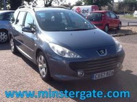 2007 PEUGEOT 307 1.6 SW S HDI 5d 89 BHP * 61000 MILES, 2 OWNERS * £2190.00