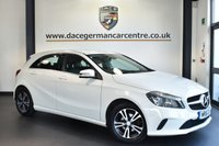 """USED 2016 16 MERCEDES-BENZ A CLASS 1.5 A 180 D SE 5DR AUTO 107 BHP full service history Finished in a stunning calcite white styled with 16"""" alloys. Upon opening the drivers door you are presented with full black leather interior, full service history, satellite navigation, bluetooth, rear-view camera, attention assist, cruise control, style pack"""