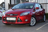 USED 2013 63 FORD FOCUS 1.0 TITANIUM 5d 124 BHP STUNNING FORD FOCUS IN RED WITH FSH, MUST BE SEEN!