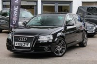 USED 2009 09 AUDI A3 2.0 TDI 170PS S-LINE S-TRONIC AUTOMATIC FSH INC CAMBELT * FULL LEATHER * BLUETOOTH * CRUISE CONTROL *