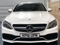USED 2016 16 MERCEDES-BENZ C CLASS 4.0 C63 V8 BiTurbo AMG S Saloon 4dr Petrol SpdS MCT (s/s) (510 ps) +FULL SERVICE+WARRANTY+FINANCE