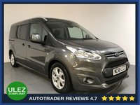 USED 2017 66 FORD GRAND TOURNEO CONNECT 1.5 TITANIUM TDCI 5d 118 BHP FORD HISTORY - 1 OWNER - 7 SEATS - ULEZ OK - PAN ROOF - REAR SENSORS - AIR CON - BLUETOOTH - DAB - CRUISE