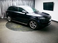 """USED 2013 63 AUDI Q7 3.0 TDI QUATTRO S LINE PLUS 5d AUTO 245 BHP £0 DEPOSIT FINANCE AVAILABLE, AUX INPUT, AIR CONDITIONING, BLUETOOTH TELEPHONE PREP, CRUISE CONTROL, 7"""" COLOUR DISPLAY, DUAL CLIMATE CONTROL, DAB RADIO, ELECTRONIC PARKING BRAKE, FULL LEATHER SEATS, HEATED SEATS, STEERING WHEEL CONTROLS, SAT-NAV, PARKING SENSORS, TRIP COMPUTER"""