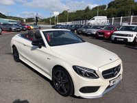 USED 2017 17 MERCEDES-BENZ C CLASS C43 AMG CABRIOLET 3.0 Turbo 4Matic Auto Diamond White Pearl, very high specification