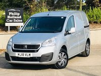 USED 2018 18 PEUGEOT PARTNER 1.6 BLUE HDI SE L1 1d 100 BHP Colour coded bumpers, 3 seats
