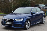 USED 2014 63 AUDI A3 2.0 TDI S LINE 4d 148 BHP ***PREVIOUSLY SOLD BY OURSELVES***
