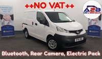 2012 NISSAN NV200 1.5 DCi SE 85 BHP in White with NO VAT TO PAY, Bluetooth, CD Player, Twin Sliding Doors and more £4380.00