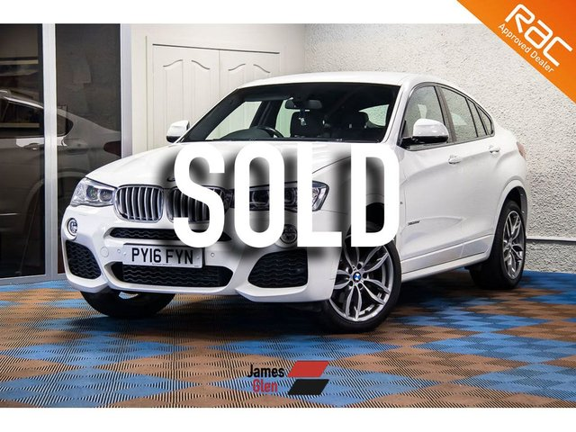 USED 2016 16 BMW X4 3.0 XDRIVE30D M SPORT 4d AUTO 255 BHP Two Owners | Two BMW Service Stampts