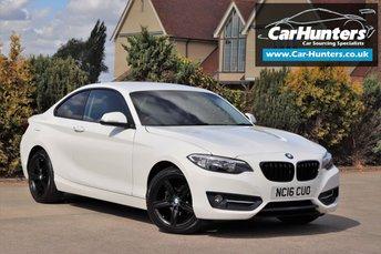 2016 BMW 2 SERIES 2.0 218D SPORT 2d 148 BHP £12995.00