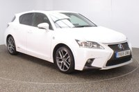 USED 2015 65 LEXUS CT 1.8 200H F SPORT 5DR AUTO SAT NAV LEATHER SEATS 1 OWNER 134 BHP FULL LEXUS SERVICE HISTORY + FREE 12 MONTHS ROAD TAX + HEATED LEATHER SEATS + SATELLITE NAVIGATION + REVERSE CAMERA + PARKING SENSOR + SUNROOF + BLUETOOTH + CRUISE CONTROL + CLIMATE CONTROL + MULTI FUNCTION WHEEL + DAB RADIO + XENON HEADLIGHTS + PRIVACY GLASS + ELECTRIC WINDOWS + ELECTRIC/HEATED MIRRORS + ALLOY WHEELS