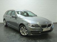USED 2015 15 BMW 5 SERIES 2.0 520D SE TOURING 5d AUTO 188 BHP 1 OWNER + FULL BMW HISTORY + SAT NAV + FULL HEATED LEATHER