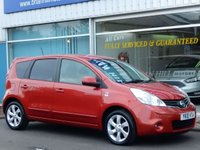 USED 2010 10 NISSAN NOTE 1.4 N-TEC 5dr (87bhp) ...FULL SERVICE HISTORY. SAT. NAV. CLIMATE CONTROL. CRUISE. NEW MOT. BEAUTIFUL CONDITION.