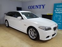 USED 2012 62 BMW 5 SERIES 2.0 520D M SPORT TOURING 5d AUTO 181 BHP * TWO OWNERS WITH HISTORY *