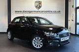 """USED 2012 62 AUDI A1 1.4 SPORTBACK TFSI SPORT 5DR 122 BHP Finished in a stunning black styled 16"""" alloys. Upon opening the drivers door you are presented with half leather interior, bluetooth, heated mirrors, multi-functional steering wheel, auxiliary port"""
