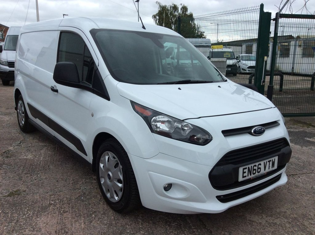 USED 2016 66 FORD TRANSIT CONNECT 1.5 210 L2 TREND 100 BHP 1 OWNER FSH NEW MOT  FREE 6 MONTH AA WARRANTY INCLUDING RECOVERY AND ASSIST EURO 6 SPARE KEY BLUETOOTH ELECTRIC WINDOWS AND MIRRORS 3 SEATS