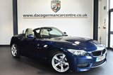 "USED 2013 13 BMW Z4 2.0 Z4 SDRIVE20I M SPORT ROADSTER 2DR 181 BHP Finished in a stunning deep metallic blue styled with 18"" alloys. Upon opening the drivers door you are presented with full leather interior, full service history,  bluetooth, heated sport seats, rain sensors, auto air con, parking sensors"
