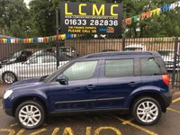 USED 2013 13 SKODA YETI 2.0 ELEGANCE TDI CR 5d 138 BHP MIDNIGHT BLUE WITH FULL BLACK LEATHER UPHOLSTERY. ONLY TWO OWNERS FROM NEW. FULL SERVICE HISTORY. BRAND NEW MOT ON PURCHASE. PANORAMIC GLASS ROOF WITH ELECTRICS. ALLOY WHEELS. AIR CONDITIONING. TOUCH SCREEN MEDIA CENTRE. REAR PARKING SENSORS. FOUR BRAND NEW TYRES. ELECTRIC WINDOWS. REMOTE CENTRAL LOCKING. PLEASE GOTO www.lowcostmotorcompany.co.uk TO VIEW OVER 120 CARS IN STOCK