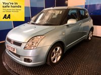 """USED 2007 07 SUZUKI SWIFT 1.5 GLX VVTS 5d AUTO 101 BHP A clean example of this much soughtafter small family 5 door automatic hatchback finished in ocean light blue metalic,complemented with 5 spoke 15"""" alloy wheels,this car comes equiped with cd radio,front and rear fog lights,electric windows/mirrors.remote central locking with keyless go, air conditioning plus all the usual refinements,this car has a few marks on the body but comes with full mot ,fully serviced ,12 months AA cover,6 months parts and labour warranty and recovery included in ppice."""