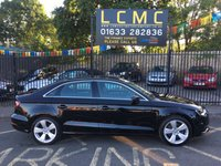 USED 2015 15 AUDI A3 2.0 TDI SPORT 4d 182 BHP STUNNING MYTHOS BLACK WITH BLACK RALLYE CLOTH UPHOLSTERY. ONLY ONE OWNER FROM NEW. THIS IS THE CHEAPEST LIKE FOR LIKE ON AUTOTRADER. NEW MOT ON PURCHASE. AIR CONDITIONING. ALLOY WHEELS. DAB RADIO. ELECTRIC WINDOWS. REMOTE CENTRAL LOCKING. PLEASE GOTO www.lowcostmotorcompany.co.uk TO VIEW OVER 120 CARS IN STOCK