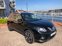 USED 2016 66 NISSAN X-TRAIL 1.6 DCI TEKNA 5d 130 BHP 1 OWNER! TOP SPEC! FULL NISSAN HISTORY! BLACK WITH BEIGE LEATHER!