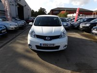 USED 2012 12 NISSAN NOTE 1.4 N-TEC PLUS 5d 88 BHP NEW MOT, SERVICE & WARRANTY