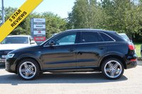 USED 2015 15 AUDI Q3 2.0 TDI QUATTRO S LINE PLUS 5d AUTO 182 BHP SATELLITE NAVIGATION + REVERSING CAMERA