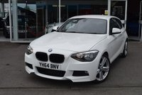 USED 2014 64 BMW 1 SERIES 2.0 116D M SPORT 3d 114 BHP FINANCE TODAY WITH NO DEPOSIT