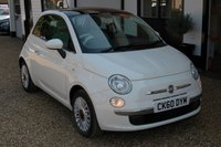 USED 2010 60 FIAT 500 1.2 LOUNGE 3d 69 BHP Half Leather, Panoramic Glass Sunroof, Alloy Wheels and Blue & Me Bluetooth