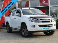 USED 2014 14 ISUZU D-MAX 2.5 TD BLADE DCB 1d 164 BHP STUNNING, 1 OWNER from New, ISUZU D-MAX 2.5 TD BLADE. DCB, 164 BHP. Finished in Splash White with BLACK Heated Leather trim. This Blade combines the ability to turn heads and put in a hard day's work. Great towing capacity with great comfort features that include Sat Nav, Heated Seats, DAB, Power Fold Mirrors, Side Steps and much more. Dealer serviced at 12260 miles, 24584 miles, 36805 miles, 48856 miles, 60363 miles and recently by Isuzu Warsop.