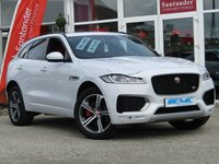 USED 2017 67 JAGUAR F-PACE 3.0 I V6 S AWD 5d AUTO 375 BHP STUNNING, 1 OWNER, LOW MILEAGE, JAGUAR F-PACE, 3.0 V6 S AWD, 375 BHP AUTO. Finished in YULONG WHITE PEARL with contrasting Full HEATED RED LEATHER. This handsome SUV is both fun to drive and practical. This car has come straight out of Jaguar and in Showroom Condition. Features include Panoramic Roof, Sat Nav, Electric Boot, Electric Heated Leather Memory Seats, DAB, Led Run Lights, and much more. Just serviced by Jaguar at 14560 miles.