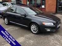 "USED 2013 63 VOLVO S80 2.4 D5 SE LUX 4DOOR AUTO 212 BHP DAB Radio   :   Satellite Navigation   :    USB & AUX Sockets   :   Automatic Headlights      Cruise Control   :   Phone Bluetooth Connectivity   :   Climate Control / Air Conditioning     Heated Front Seats       :       Electric Driver Seat       :       Full Black Leather Upholstery     Rear Parking Sensors   :   17"" Alloy Wheels   :   2 Keys   :   Full Volvo Service History"