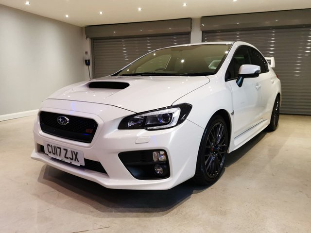 "USED 2017 17 SUBARU WRX 2.5 STI TYPE UK 4d 300 BHP 18"" GUNMETAL GREY ALLOYS + BLUETOOTH + DAB RADIO"