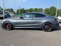 """USED 2018 18 MERCEDES-BENZ C 63 AMG 4.0 AMG C 63 S PREMIUM 2d AUTO 503 BHP AMG Performance Exhaust, Premium Pack, Command Online, AMG Night Pack, Parking Pack 360 Camera, Burmister Surround Sound System, 19/20"""" AMG Cross Spoke Alloy Wheels, Heated Front Seats, Keyless Go Comfort Pack, LED headlights"""