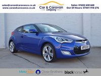 USED 2013 13 HYUNDAI VELOSTER 1.6 GDI SPORT 4d 138 BHP Full Service History Huge Spec Buy Now, Pay Later Finance!