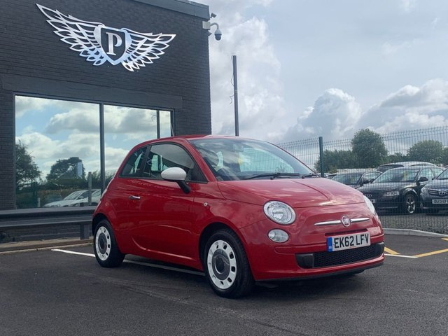 USED 2012 62 FIAT 500 1.2 COLOUR THERAPY 3d 69 BHP AA WARRANTY,  MOT AND SERVICE INCLUDED