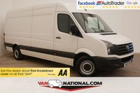 USED 2017 17 VOLKSWAGEN CRAFTER 2.0 CR35 TDI P/V LWB BMT 140 BHP (EURO 6 ULEZ) * 1 OWNER * EURO 6 * ZERO DEPOSIT FINANCE AVAILABLE *