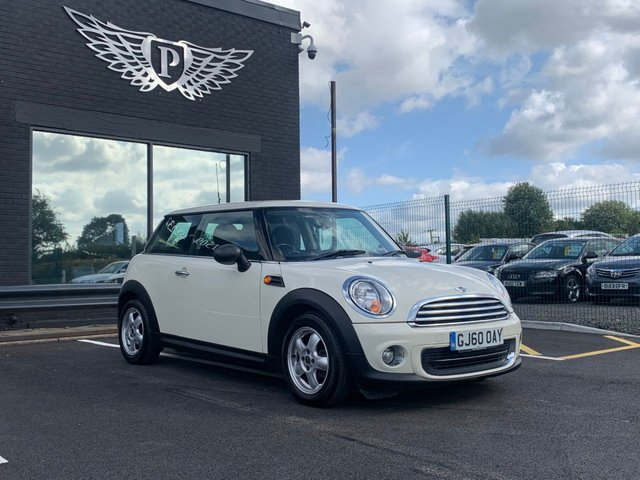 USED 2010 60 MINI HATCH ONE 1.6 ONE 3d 98 BHP AA WARRANTY,  MOT AND SERVICE INCLUDED