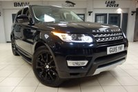 USED 2015 15 LAND ROVER RANGE ROVER SPORT 3.0 SDV6 HSE 5d AUTO 288 BHP 7 SEATER FINISHED IN STUNNING BLACK WITH UNMARKED CREAM LEATHER SEATS AND CONTRASTING BLACK CARPETTING + 1 OWNER FROM NEW WITH A FULL LAND ROVER SERVICE HISTORY + SIDE STEPS + PRIVACY GLASS + SATELLITE NAVIGATION + VERY RARE 7 SEAT MODEL + PARKING SENSORS + REAR VIEW CAMERA + HEATED SEATS + FRONT PARKING AID + XENON LIGHTS + HEATED WINDSCREEN + CLIMATE CONTROL + CRUISE CONTROL + STOP/START SYSTEM + ELECTRIC TAILGATE + MULTIFUNCTIONAL STEERING WHEEL + AMBIENT LIGHTING + USB/AUX INPUT + DAB DIGITAL RADIO +