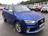 USED 2014 14 AUDI Q3 2.5 RSQ3 TFSI QUATTRO 5d 306 BHP Sepang Blue with. Silver Nappa leather, Carbon, BOSE, Tech Pack inc SAt Nav ++