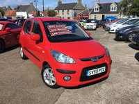 USED 2009 59 HYUNDAI I10 1.2 COMFORT 5d 77 BHP 1  OWNER FROM NEW WITH FULL DEALER HISTORY(6 stamps)